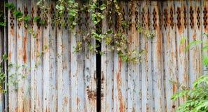 Vieille trappe en acier Image stock