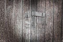 Vieille trappe en bois Images libres de droits