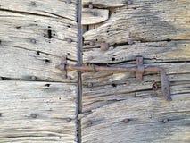 Vieille trappe en bois rustique Photo libre de droits