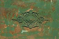 Vieille trappe en métal Images stock