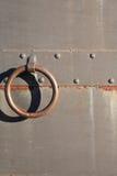 Vieille trappe en métal Image stock