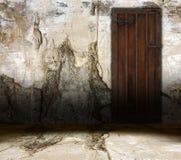 Vieille trappe intérieure illustration de vecteur