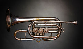 Vieille trompette image stock