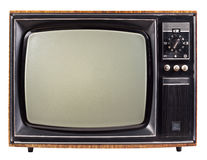 Vieille TV Image libre de droits