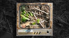 Vieille TV photographie stock
