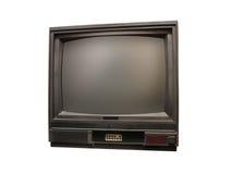Vieille TV d'isolement au-dessus du fond blanc Photo stock