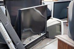 Vieille TV plate image libre de droits