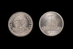 Vieille une pièce de monnaie de Cruziero du Brésil Image stock