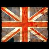 Vieille union Jack de papier brûlée - Images libres de droits