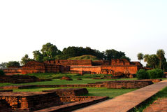 Vieille université bouddhiste de Nalanda Photographie stock libre de droits