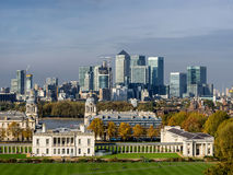 Vieille université navale royale dans le Greenwich Village, Londres Images libres de droits