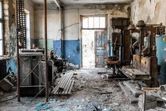 vieille usine abandonnée Photos stock