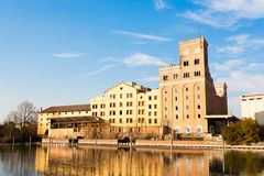 Vieille usine abandonnée, archéologie industrielle l'Italie photos stock