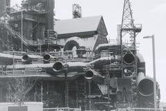 Vieille usine abandonnée de Bethlehem Steel d'usine sidérurgique Photos libres de droits