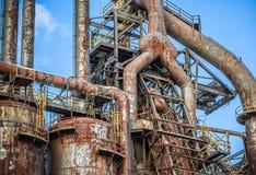 Vieille usine abandonnée de Bethlehem Steel d'usine sidérurgique Photos stock