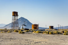 Vieille usine abandonnée de borax Photo stock