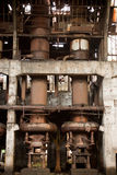Vieille usine abandonnée - furnance Images stock