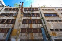 Vieille usine détruite Images libres de droits
