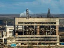 Vieille usine de bicarbonate Photo libre de droits