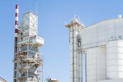 Vieille usine de ciment images stock