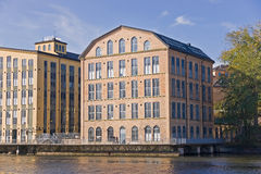 Vieille usine de textile, Norrkoping Photo libre de droits