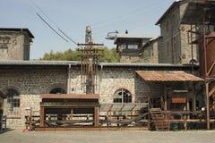 Vieille usine en panne Images libres de droits