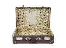 Vieille valise avec le chemin de découpage Photographie stock