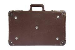 Vieille valise avec le chemin de découpage Image stock