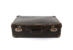 Vieille valise brune pour la course Photos stock