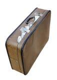 Vieille valise complètement d'argent photographie stock libre de droits