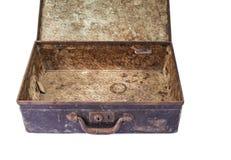 Vieille valise de vintage sur le fond blanc photographie stock libre de droits