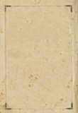 Vieille vignette sale âgée de page de feuille de papier de livre, l'espace d'isolement de copie de fond de cadre Images libres de droits