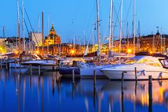 Vieille ville à Helsinki, Finlande Image stock