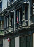 Vieille ville à Lima, Pérou Image libre de droits