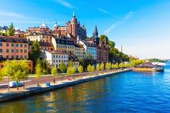 Vieille ville à Stockholm, Suède Photographie stock libre de droits