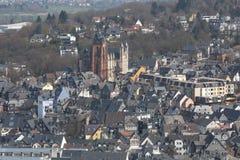 vieille ville Allemagne wetzlar d'en haut photo stock