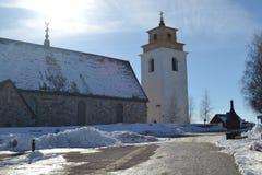 Vieille ville d'église en Suède Photos stock