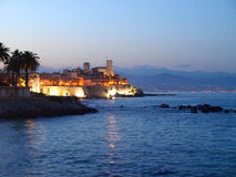 Vieille ville d'Antibes Photos stock