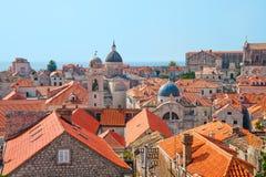 Vieille ville dans Dubrovnik, Croatie Photos libres de droits