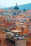Vieille ville dans Dubrovnik, Croatie Images libres de droits