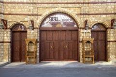 Vieille ville dans Jeddah, Arabie Saoudite connue sous le nom de Jeddah historique Vieux et héritage Windows et portes dans Jedda photo libre de droits