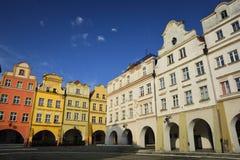 Vieille ville dans Jelenia Gora, Pologne, l'Europe Photographie stock libre de droits
