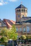 Vieille ville de Bayreuth - avec la tour octogonale de l'église de château (Schloßkirche) Image libre de droits
