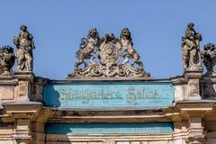 Vieille ville de Bayreuth - manufacturerr de piano de Steingraeber Images libres de droits