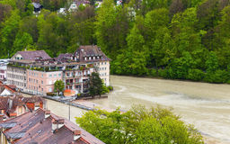 Vieille ville de Berne, paysage côtier Photos libres de droits