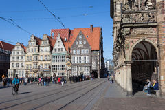 Vieille ville de Brême, Allemagne Photographie stock libre de droits
