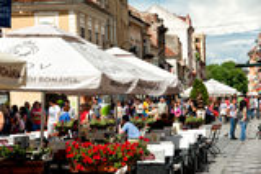 Vieille ville de Brasov Image stock
