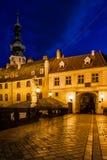 Vieille ville de Bratislava la nuit Photo stock