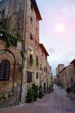 Vieille ville de Certaldo en Toscane Image stock