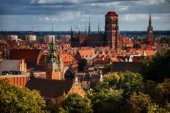 Vieille ville de Danzig en Pologne Image libre de droits